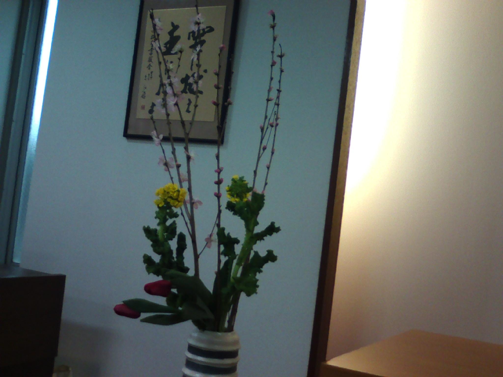 教会に在る花