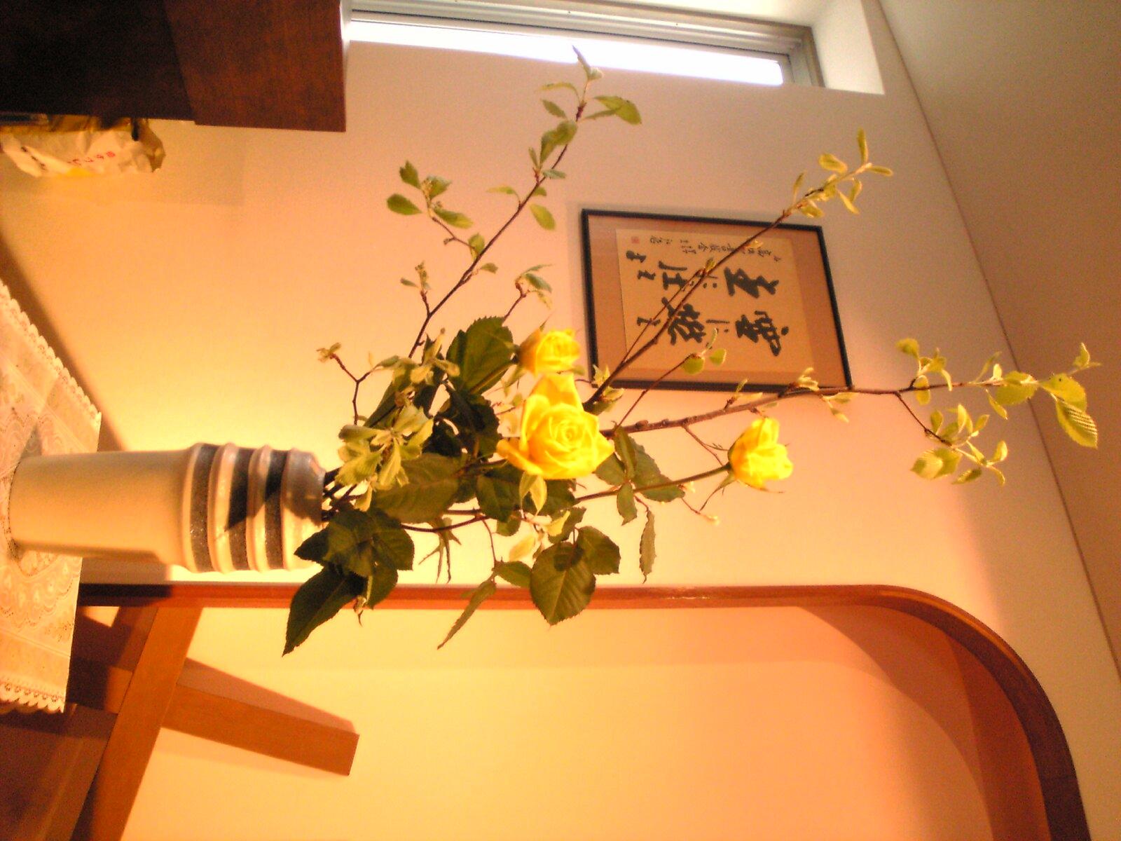 今日の教会の花