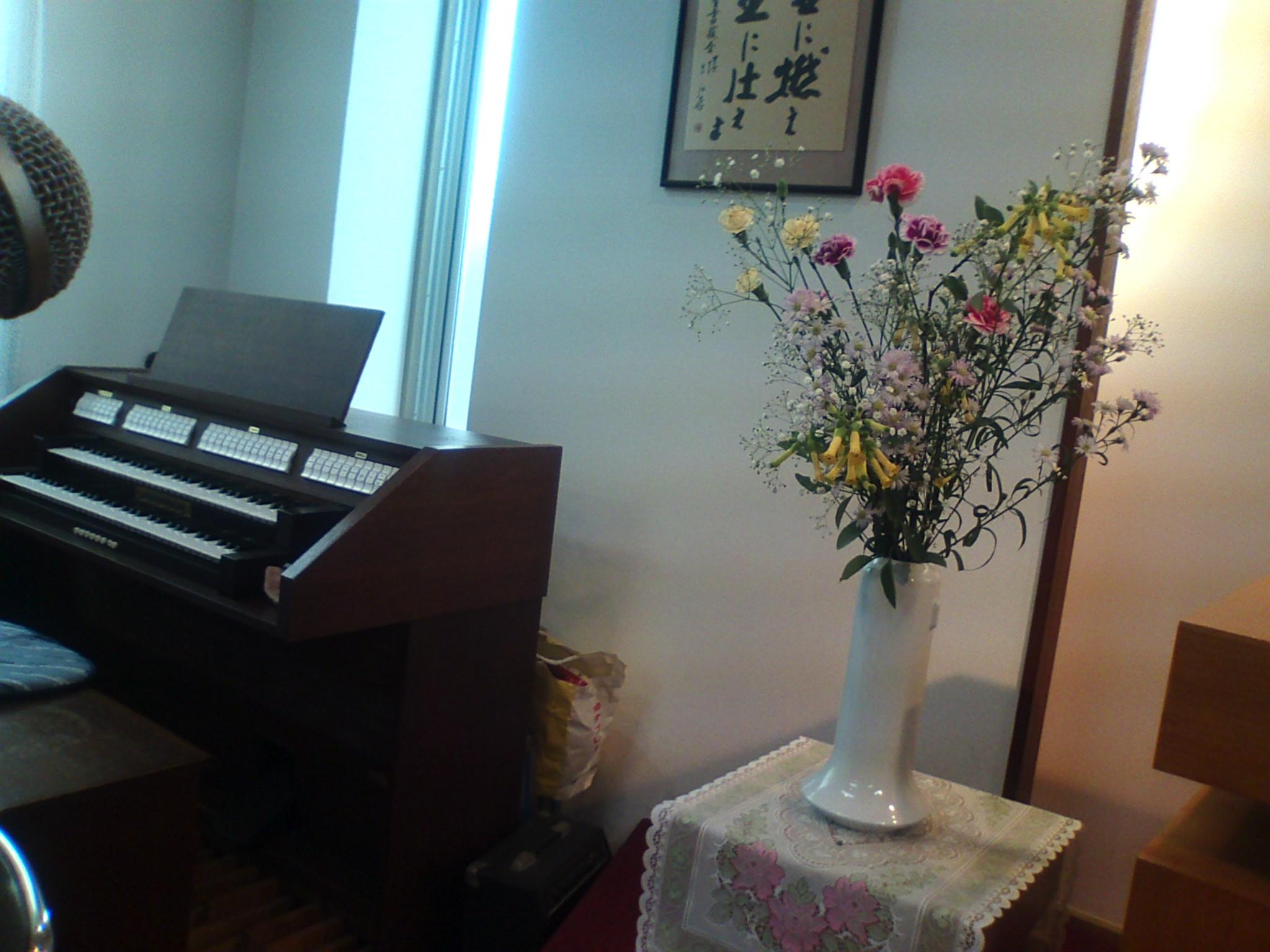 昨日の教会の花