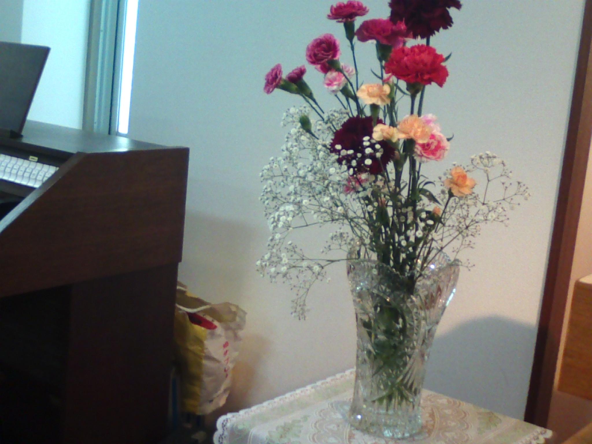 教会の花の写真